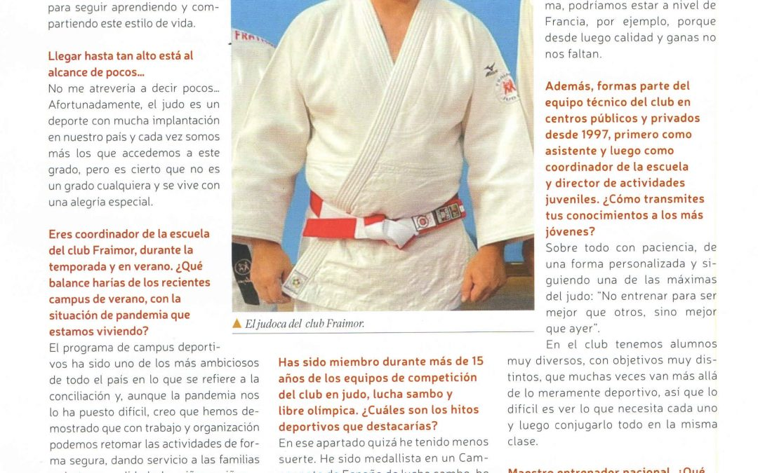 """Entrevista en la revista """"La Plaza"""""""